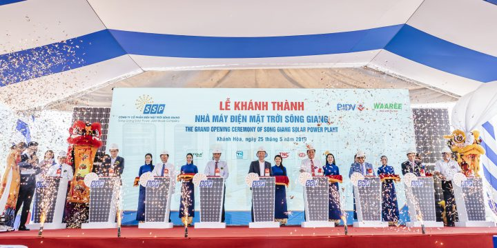 The Grand opening ceremony of Sông Giang Solarpower Plant